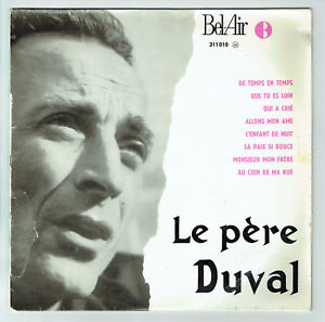 33-tours-25cm-LE-Pere-DUVAL-Disque-DE-TEMPS-EN-TEMPS-BEL-AIR-311010-RARE