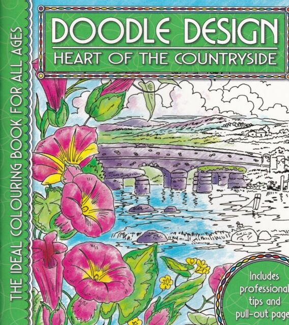 Heart of the Countryside Colouring Book - Doodle Design - Art Therapy, New