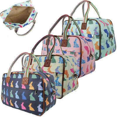 Fashion Ladies Womens Rabbit Print Maternity Day Overnight Bag Travel Hand Lugga