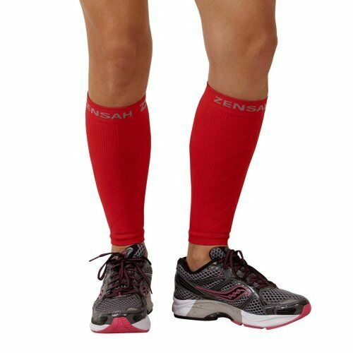 NEW Zensah Compression Leg Sleeves Red X Small FREE SHIPPING