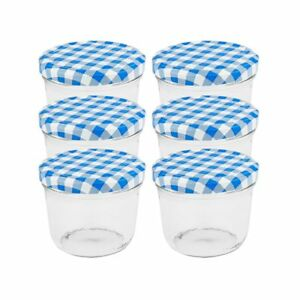 50 Einmachgläser 230ml blau Marmeladengläser Sturzgläser Einweckglas Einkochglas