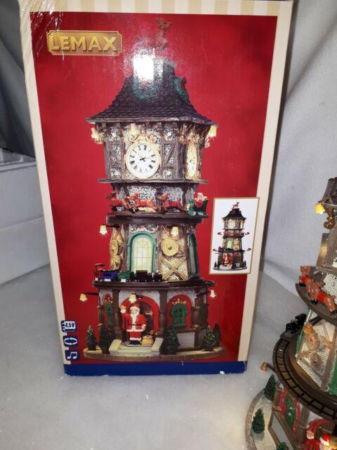 Lemax Christmas Clock Tower, Weihnachtsdorf, Weihnachtsdeko, Lichthäuser