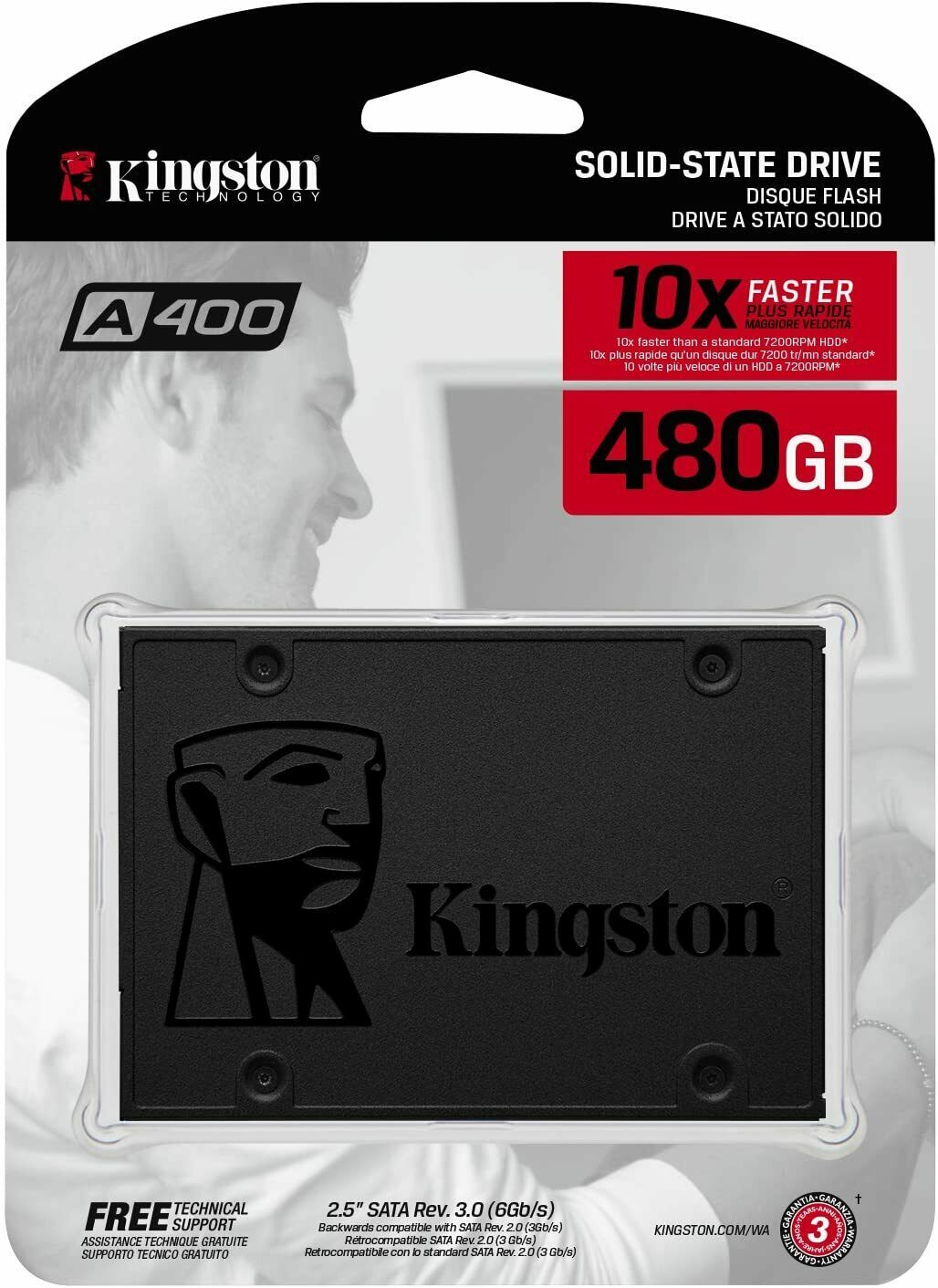 """Kingston SSD 480GB SATA III 2.5"""" Internal Solid State Drive New Sealed. Buy it now for 59.95"""