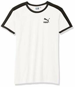 Details about T Shirt Puma Short Sleeved Top 577979 02 White Iconic t7 Slim Tee White NEW show original title
