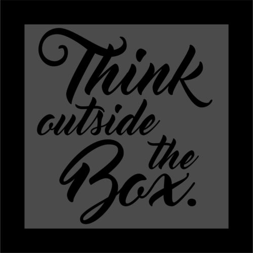 Home Wall Cur Sticker Vinyl Decal Car Truck Think outside the box