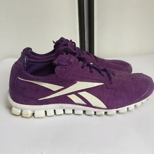 reebok womens Sz 9 Sneakers Purple Suede Running Athletic Shoes S6 ... bbf619e3e