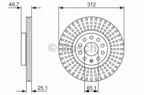 2 x FRONT AXLE BRAKE DISCS SET BRAKING DISCS PAIR OE QUALITY BOSCH 0986479932