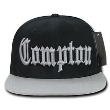30457a31db2 Black   Gray Compton Vintage Eazy E NWA Dre Cube Flat Bill Snapback Ball  Cap Hat