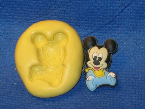 Baby Mickey 521 Push Mold Food Safe Silicone Cake Chocolate Resin Clay Baby