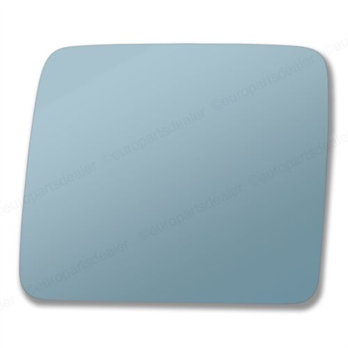 Passenger Side BLUE CONVEX WING MIRROR GLASS Mercedes W124 1984-1995 Stick On