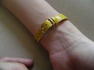 14 Mm Armband Aus Eidechse Echt Gelb Schöner Fabrication Francaise
