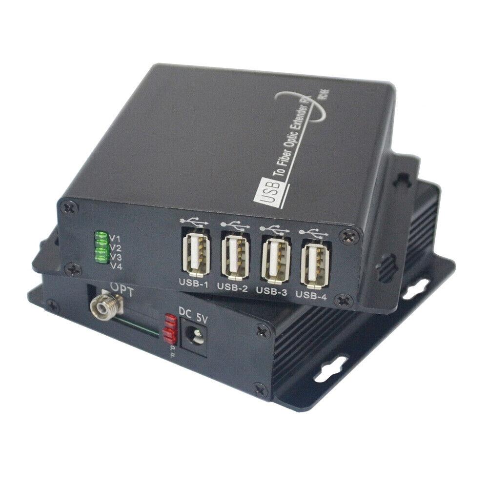 USB2.0 over Fiber optic Extender Converter SM MM 300m for U disk,Printer,Scanner