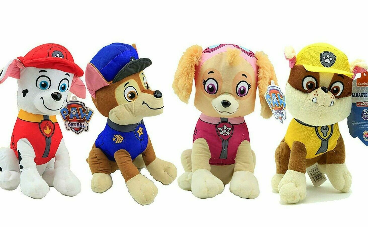 New Set of 4  XLarge Paw Patrol Plush Spielzeugs 14'' each. New Licensed.