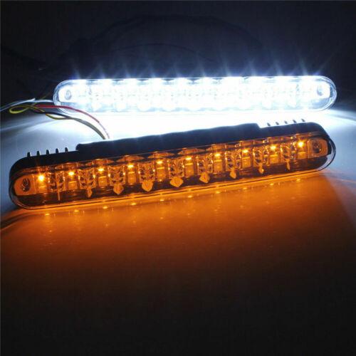 2X 30 LED Autos DRL Driving Daytime Running Lamp Daylight Turn Signal Head Light