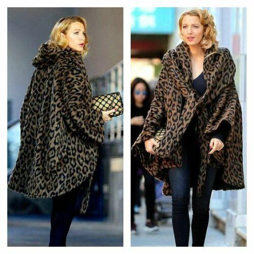 Lindsey Thornburg Alpaca Leopard Print Cloak Coat