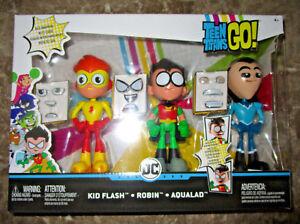 Titans adolescents vont!   Set de 3 figurines pour enfants Face Swappers - Robin Robin Aqualad 2018 887961638929