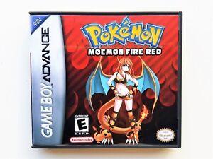 Details about Pokemon Moemon Fire Red (Fixed) + Custom Case GBA Gameboy  Advance Fan Hack Anime