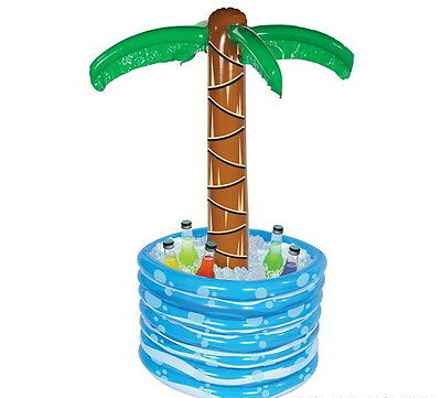 """48/"""" INFLATABLE PALM TREE BEER SODA DRINK COOLER PICNIC LUAU FAST FREE SHIPPING!"""