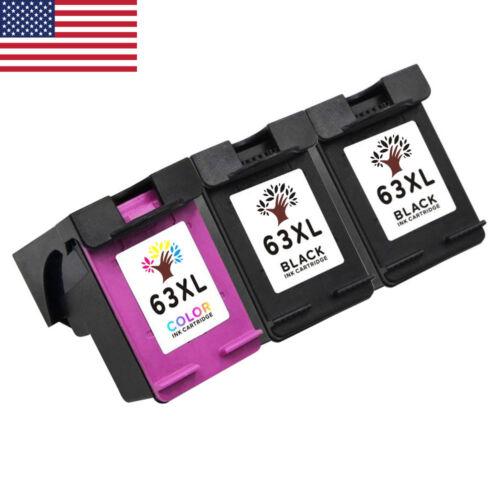 3PK 63XL Ink Cartridges for HP Deskjet 1110 1111 1112 2130 2132 3630 3632 3633