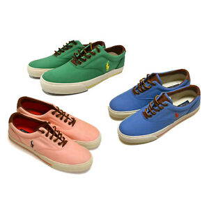Polo-Ralph-Lauren-Mens-Tennis-Shoes-Canvas-Lace-Up-Sneakers-Pony-Logo-8-10-11-13