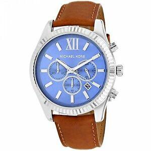 de9219a03a96 Michael Kors MK8537 Lexington Brown Leather Strap Men s Watch for ...