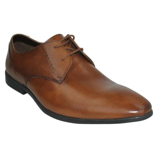 a2797988fc97 Clarks Bampton Lace Mens Lace-up Derby Shoes Tan 12