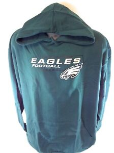 9a46521175 Image is loading NEW-Mens-NFL-Majestic-Philadelphia-Eagles-Logo-Fleece-