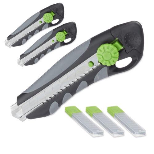 Ersatzklingen Kartonmesser Abbrechklingen Abbrechmesser 3 x PROFI Cuttermesser