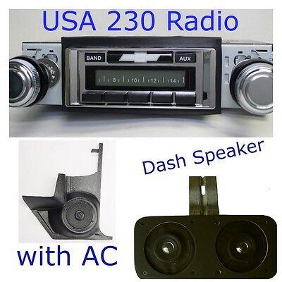1967 Chevelle El Camino Package W//AC USA 230 Radio Dash Speaker Kick Panels