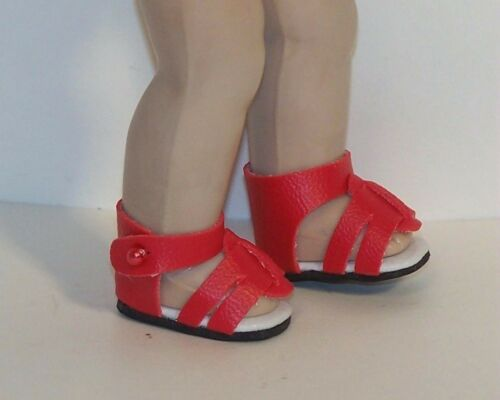 """RED Strappy Sandals Doll Shoes For 8/"""" Vogue VINTAGE Ginny Debs"""