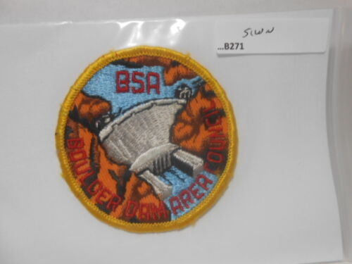 BOULDER DAM AREA COUNCIL PATCH YELLOW BORDER ROUND B271