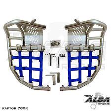 Yamaha Raptor 700  Nerf Bars  Pro Peg  Alba Pro Elite  Silver Blue 197 T7 SL