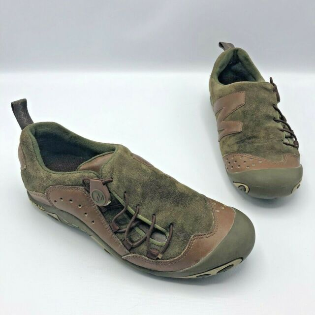 Merrell Bria Olive Green Suede Brown