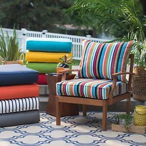 25 Premium Sunbrella Fabric Outdoor Deep Seat Cushion Set For Patio