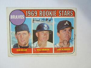 1969-Topps-611-Bob-Didier-Walt-Hriniak-Gary-Neibauer-Autograph-Signed-Card-M