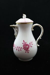 Kaffeekanne-original-Meissen-Dekor-indische-Malerei-in-purpur-mit-Goldrand