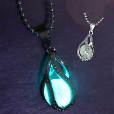 Collar Cadena Gargantilla Colgante Lágrima Sirenita Brillo Noche regalo Mujer