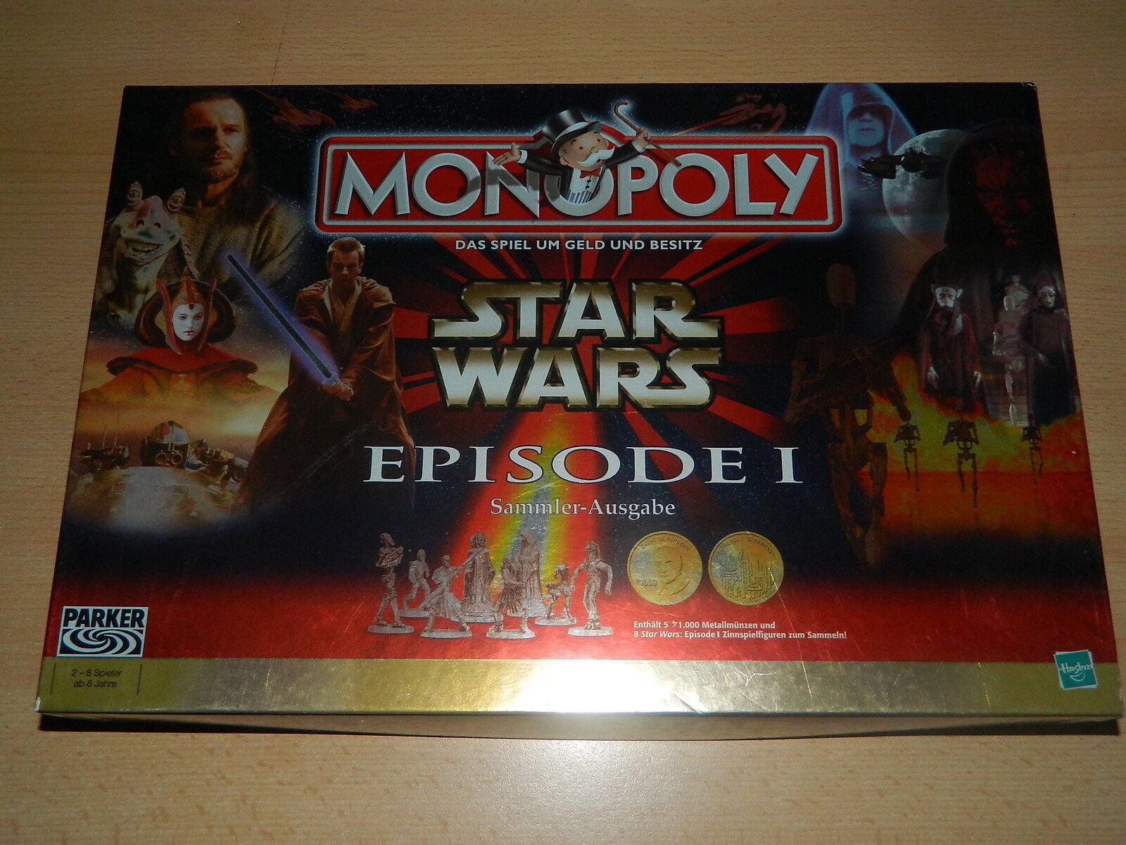 Monopoly Star Wars-Episode 1-Collectionneurs Édition-état 2+ de Parker