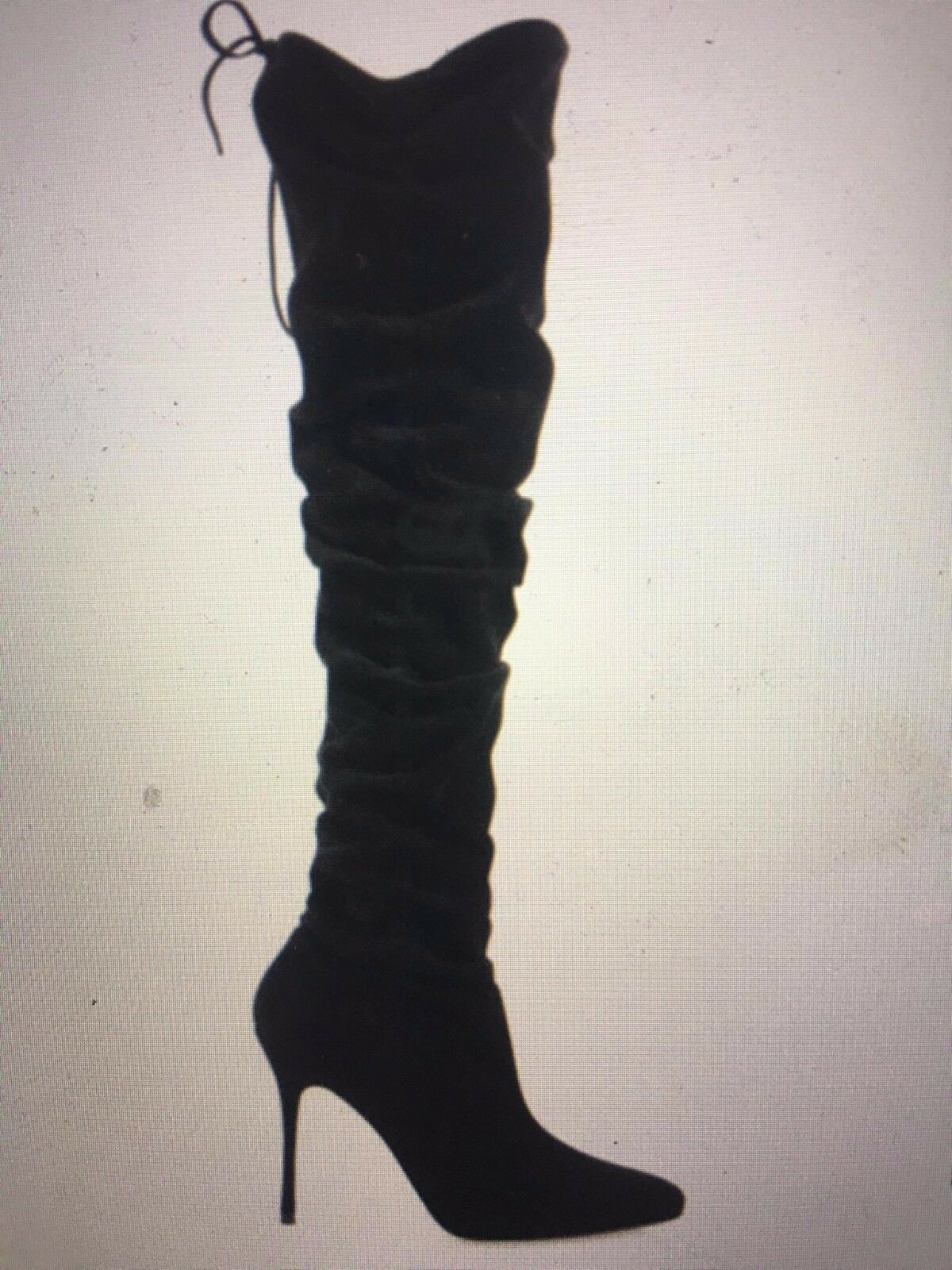 New Manolo Blahnik Gipsy Over the Knee Black Suede Boots
