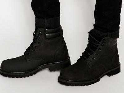 Mens Jack \u0026 Jones Stoke Leather Boot In