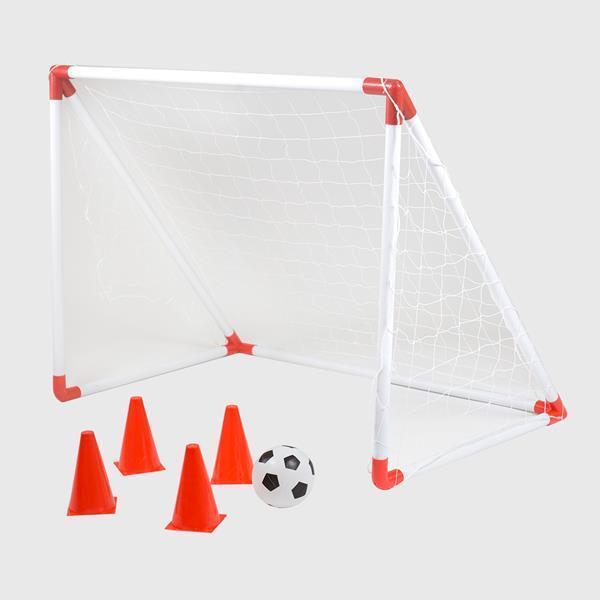Fußballtor Fußball Set Übungstor Tor Torwand Netz 116cm Hütchen Kinder BR116A