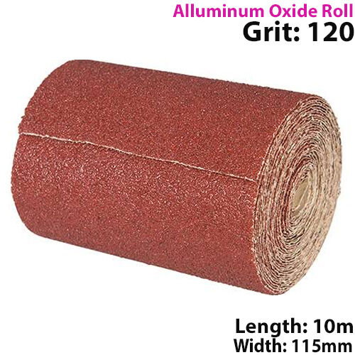 10m Long Life Aluminium Oxide Sand Paper Rolls Select a Grit Sanding//Grinding