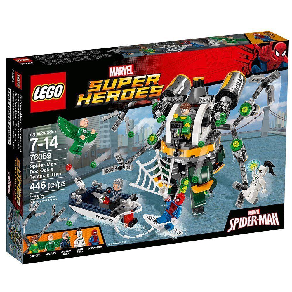 Lego Marvel Super Heroes 76059 Spider-Man Doctor Octopus's tentáculo trampa Buitre NISB