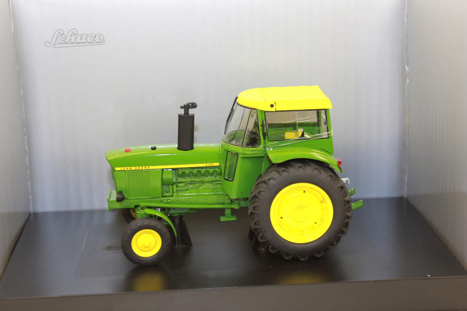 Schuco 07677 John Deere 3120 tracteur avec capote NEUF dans neuf dans sa boîte