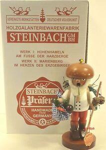 STEINBACH-GERMAN-WOODEN-NUTCRACKER-CHUBBY-SMOKER-MUSHROOM-KARL-S780-NEW