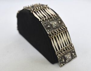 TAXCO MEXICO Sterling Silver CUFF Bracelet - 51 GRAMS!!!