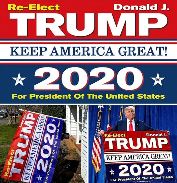Donald Trump Re-Elect Keep America Great 2020 New 3x5 Polyester Flag MAGA New