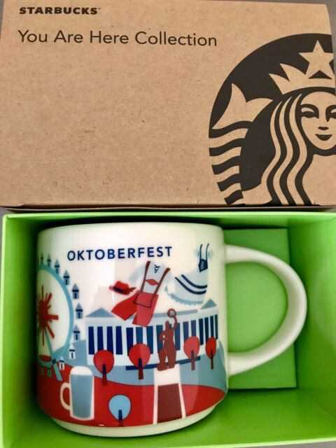 Starbucks Coffee 14oz GERMANY mug YAH YOU ARE HERE Cup NIB w// SKU