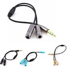 Nuevo Cable Adaptador Jack 3,5mm Macho Estéreo X2 Hembra Audio Conversor