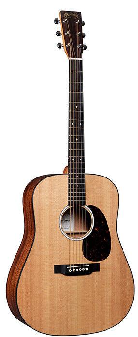 Martin D-10E Acoustic Electric Guitar Satin Natural Finish w  Soft Case